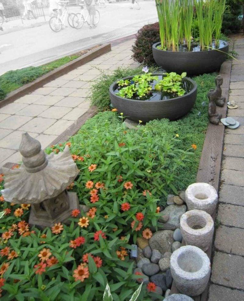 Feng Shui Garten origineller Blumenbeet