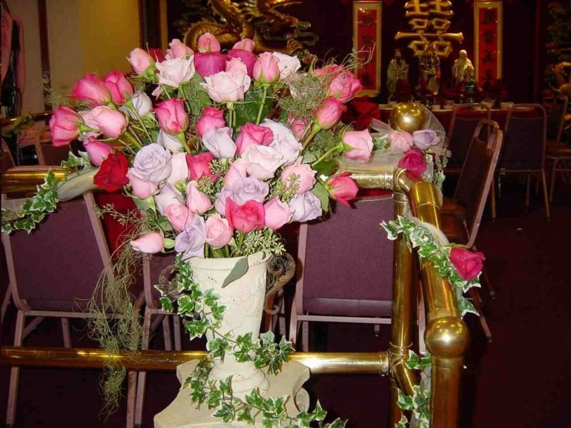 Blumengestecke für Hochzeit