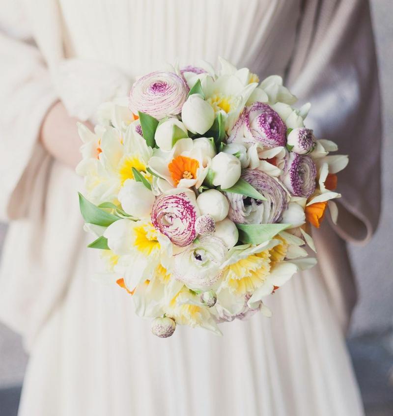 Hochzeitsstrauβ Narzissen