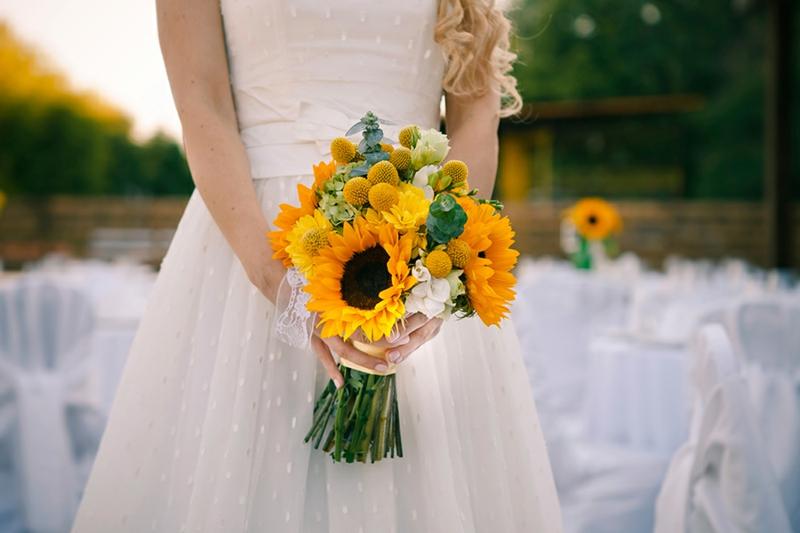 Sommenblumen Hochzeitsstrauβ