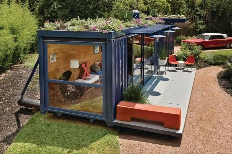 unweltfreundliche Wohnideen Container Haus