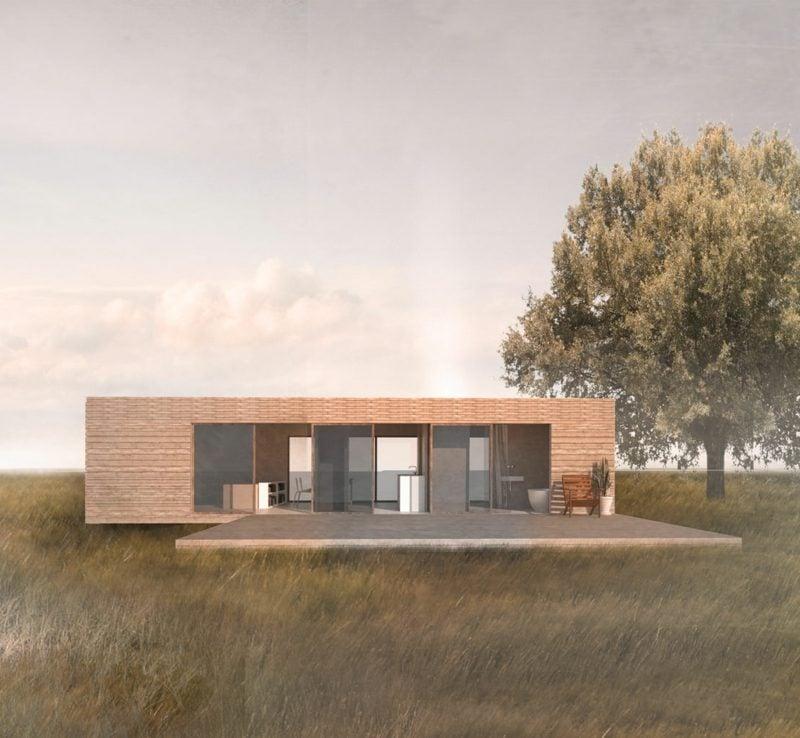 Container Haus mit modernem Design