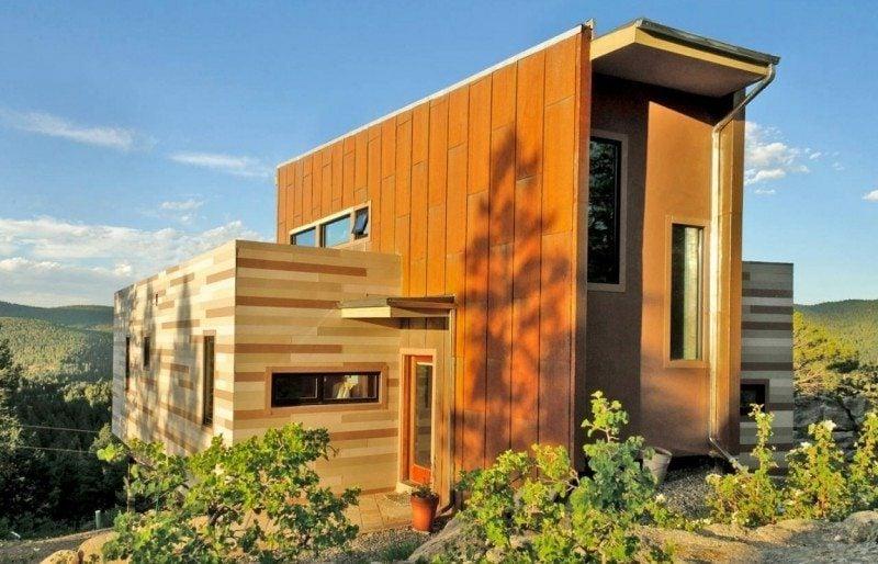 Container Wohnung im Orange
