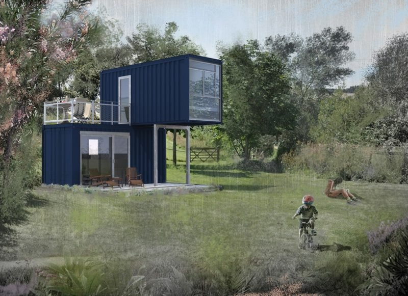 Container Haus mit originellem Design