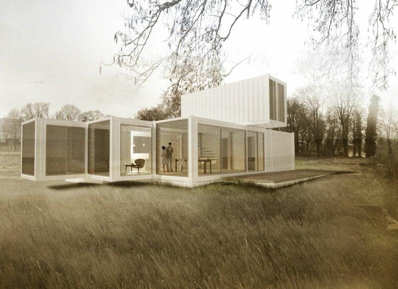 Container Wohnung mit originellem Design