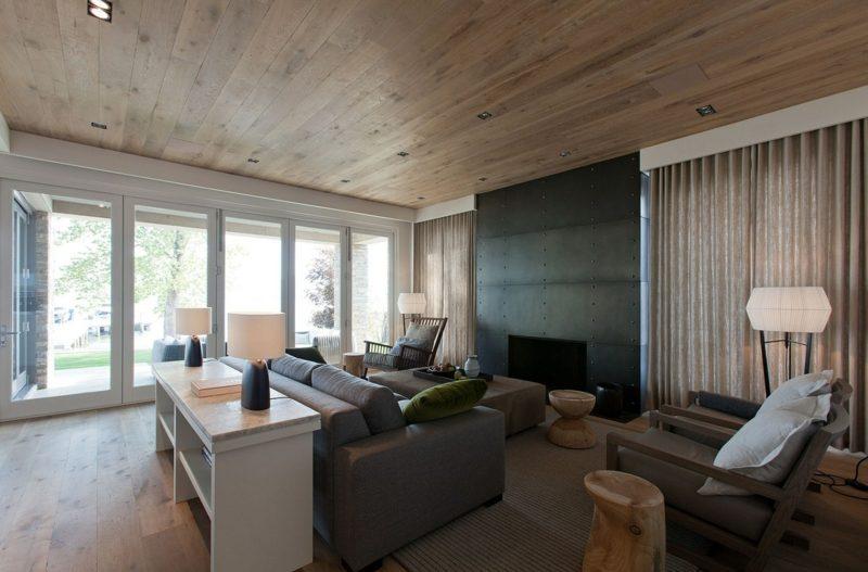 Die Holzdecke die perfekte Deckengestaltungliving