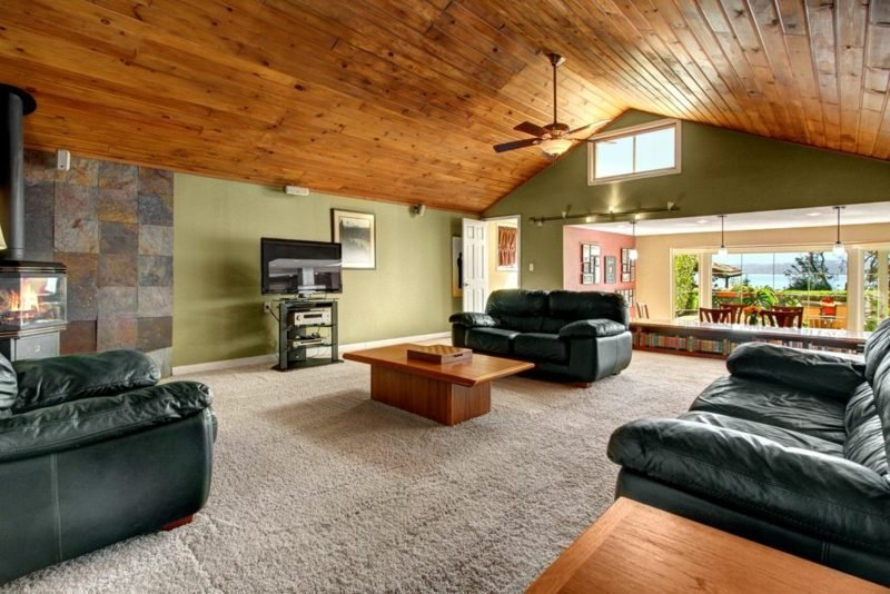 Holzdecke gestalten 35 ideen im modernem landhausstil