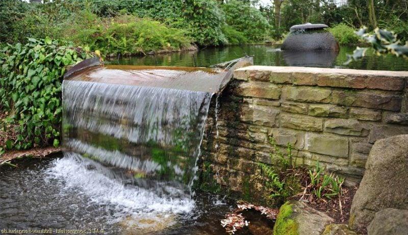 Wasserfall Gartengestaltung nach Feng Shui