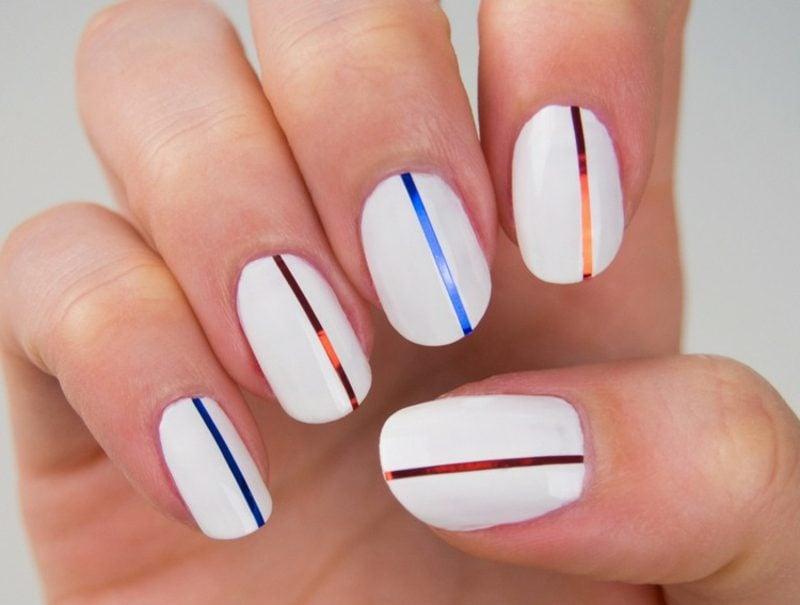 Fingernägel Design Zierstreifen