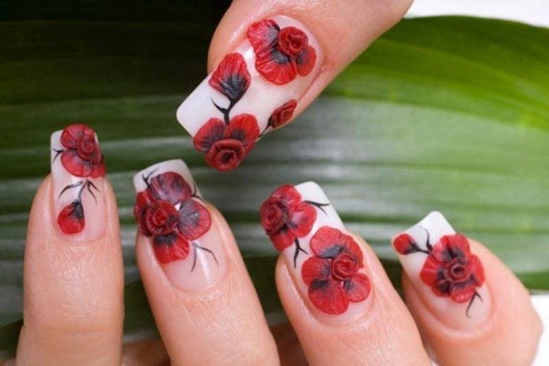 Fingernagel Design 3D Acryl