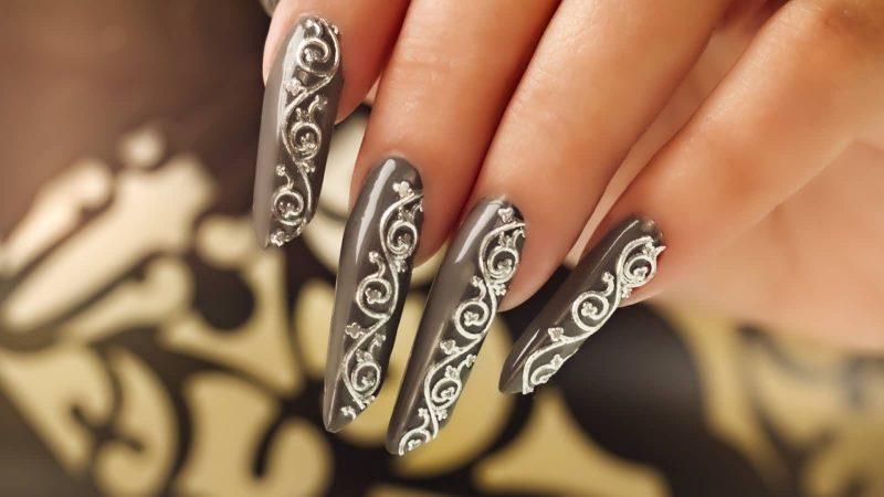 Fingernagel Design lang