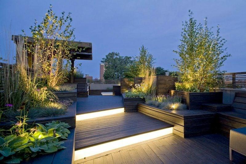 Gartengestaltung Beleuchtung der Terrasse