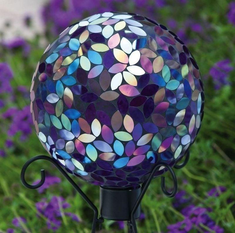 Mosaikdeko Gartenlampe