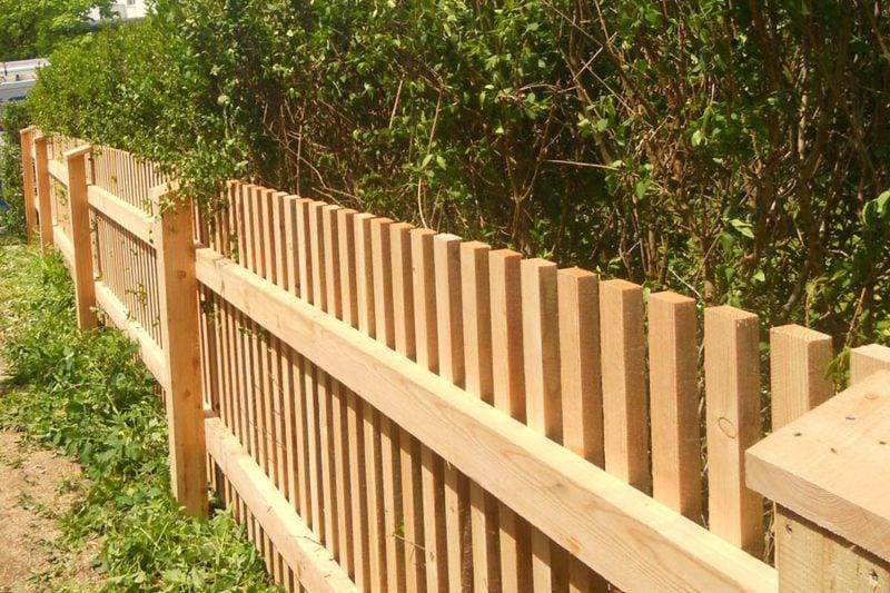 Gartensichtschutz Holzzaun