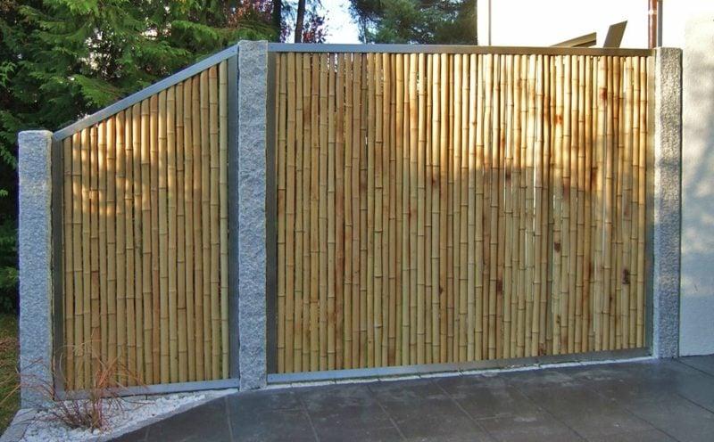 interessanter Bambuszaun Gestaltung des Gartens
