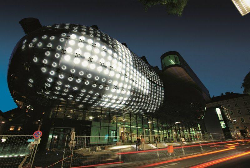 Kunsthaus Graz in der Nacht