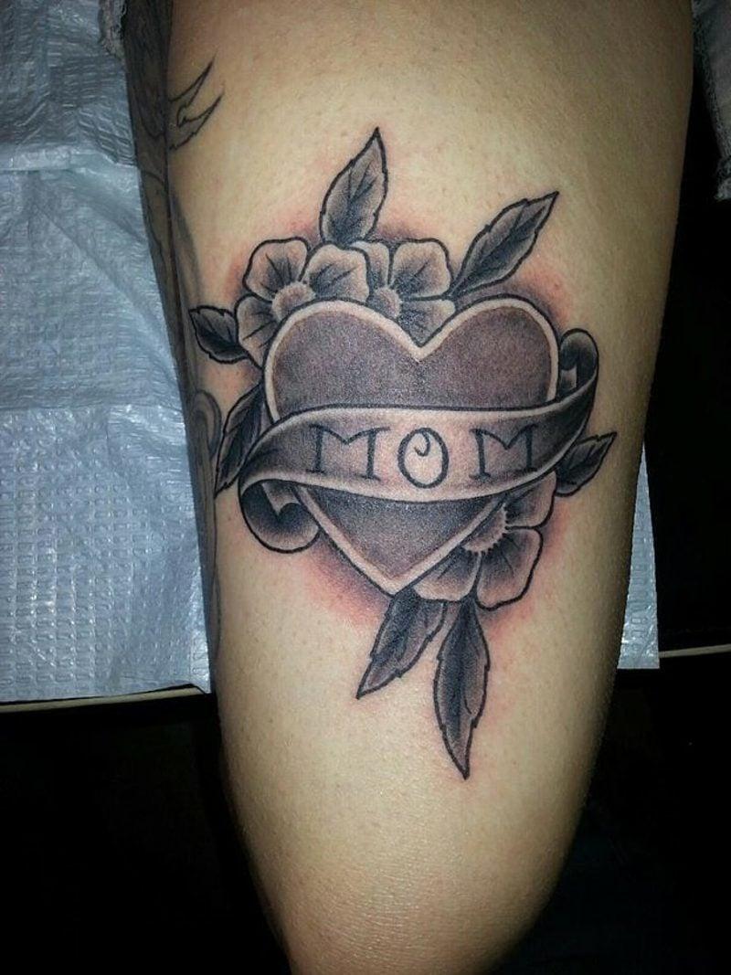 Herz Tattoo Black