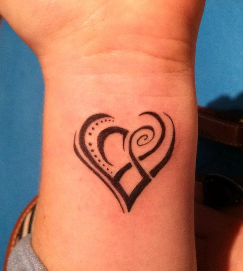 Herz Tattoo Cool Tribal