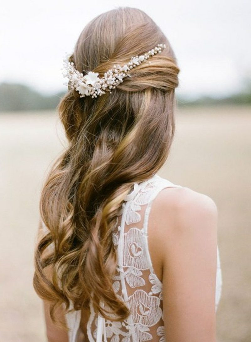 Hochzeitsfrisuren wedding hairstyle for long hair