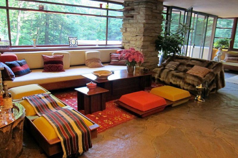 Fallingwater Interieur organische Architektur