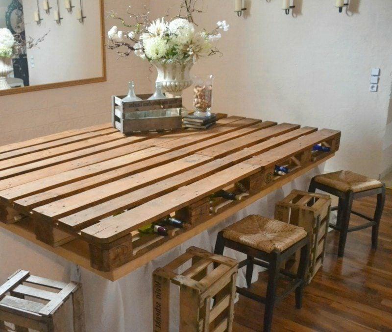 Kücheninsel selber bauen kreative Ideen Kücheninsel aus Europaletten