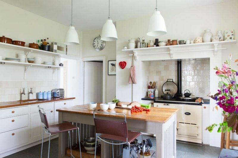 Kücheninsel Landhaus Stil