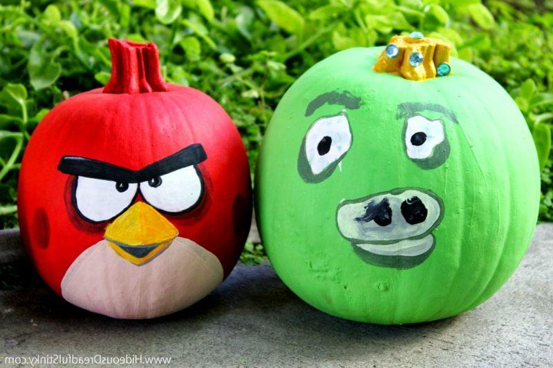 Kürbis bemalen angry gourds