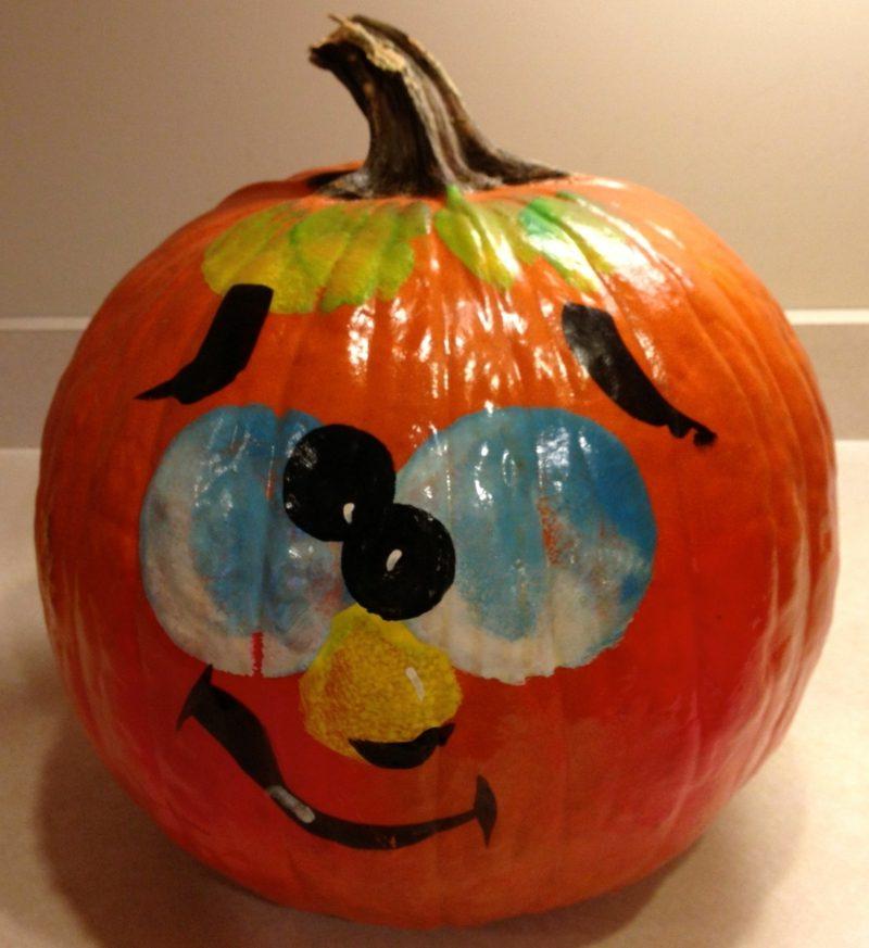 Kürbis bemalen painted pumpkin