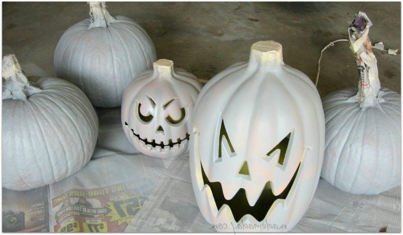 Kürbis bemalen painted pumpkins