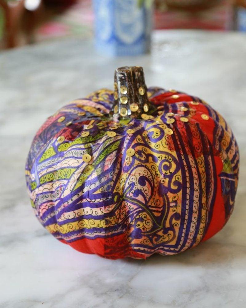Kürbis bemalen pattern pumpkin craft