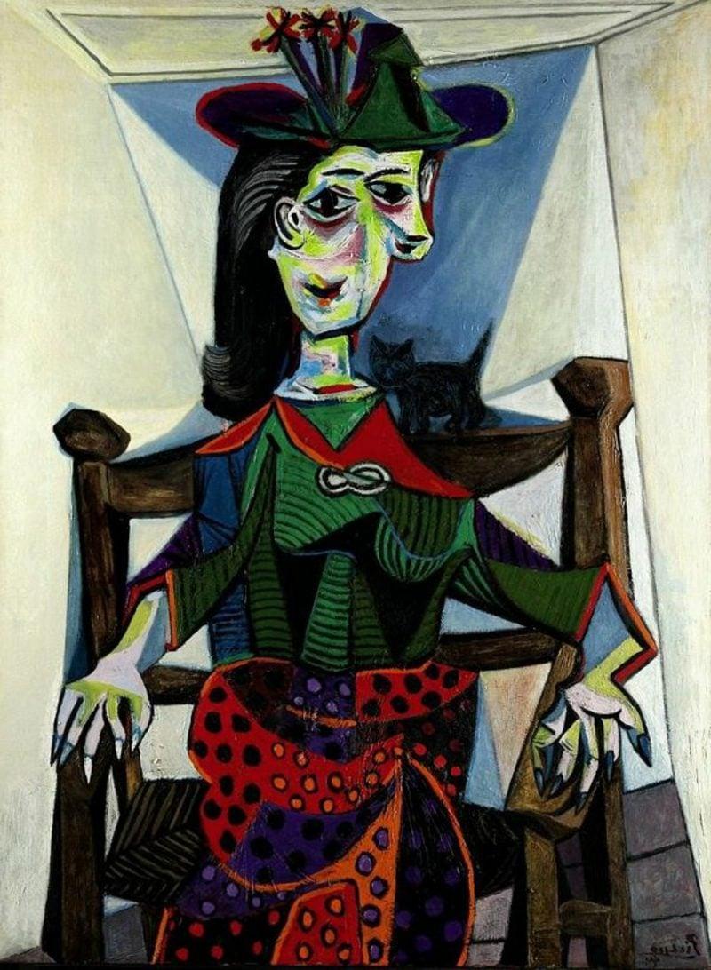 Kubismus Merkmale Dora Maar au Chat, 1941 by Pablo Picasso