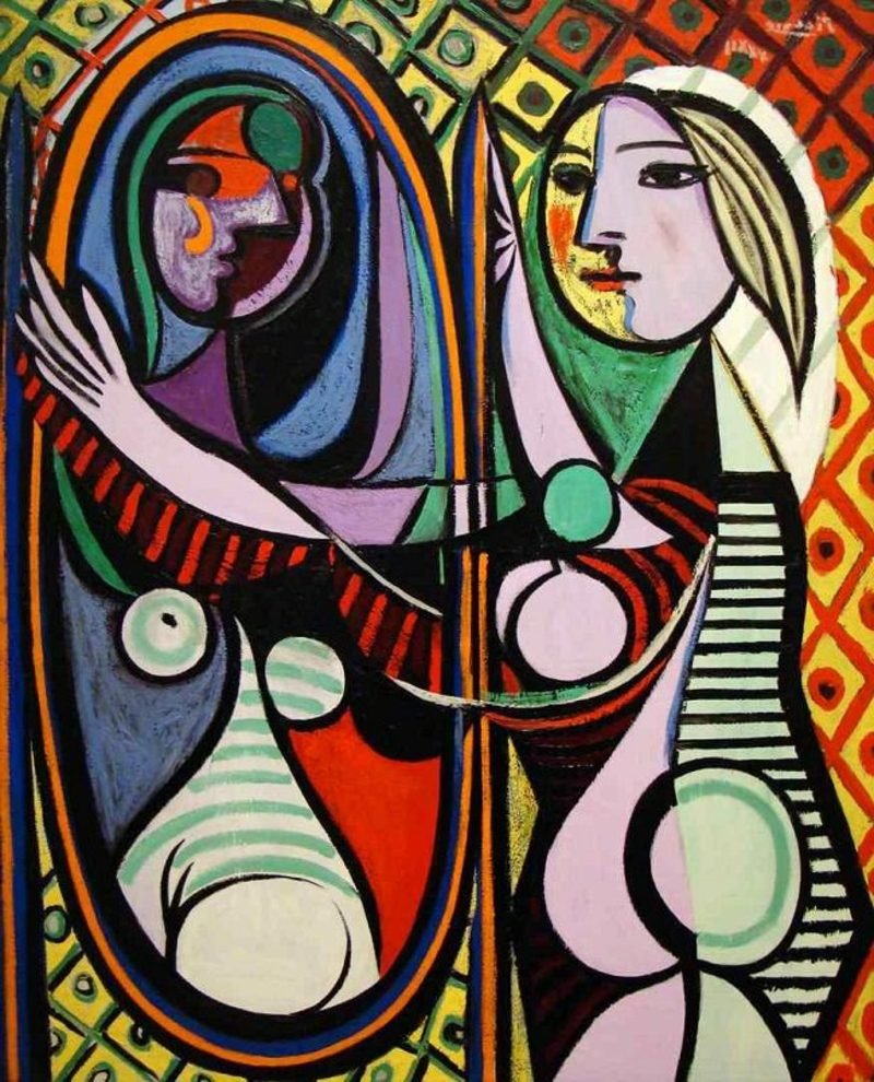 Kubismus Merkmale Girl Before A Mirror Pablo Picasso