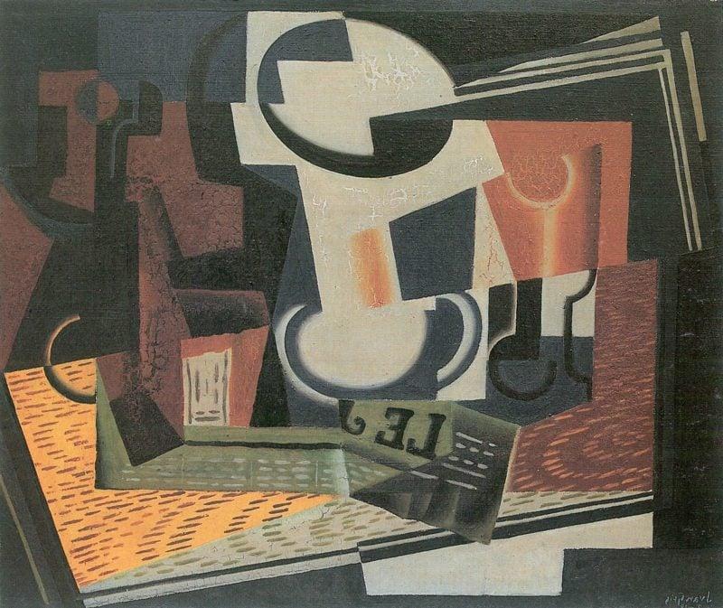 Kubismus Merkmale Gris Juan Stillleben mit Obstschale