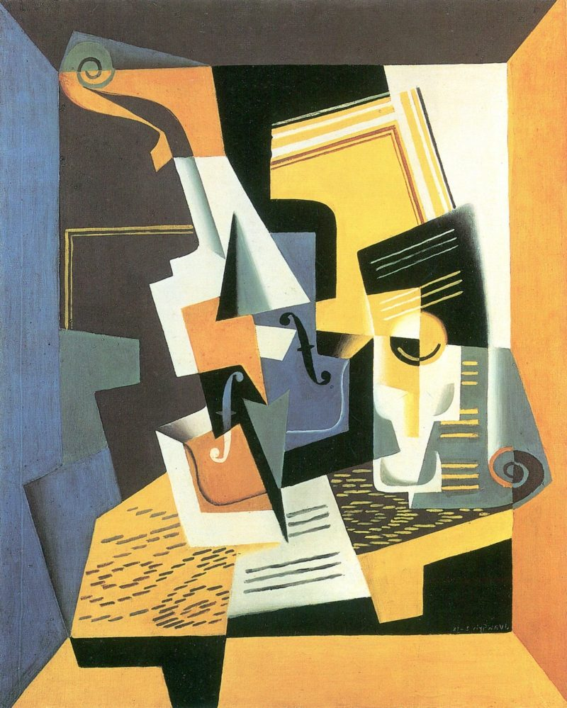 Kubismus Merkmale Gris, Juan Violine und Glas