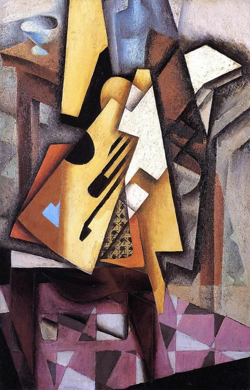 Kubismus Merkmale Guitar on a Chair, Juan Gris