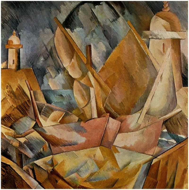 Kubismus Merkmale Harbor in Normandy Georges Braque