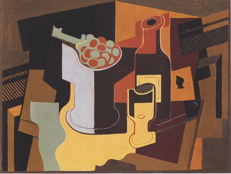 Kubismus Merkmale Juan Gris Flasche