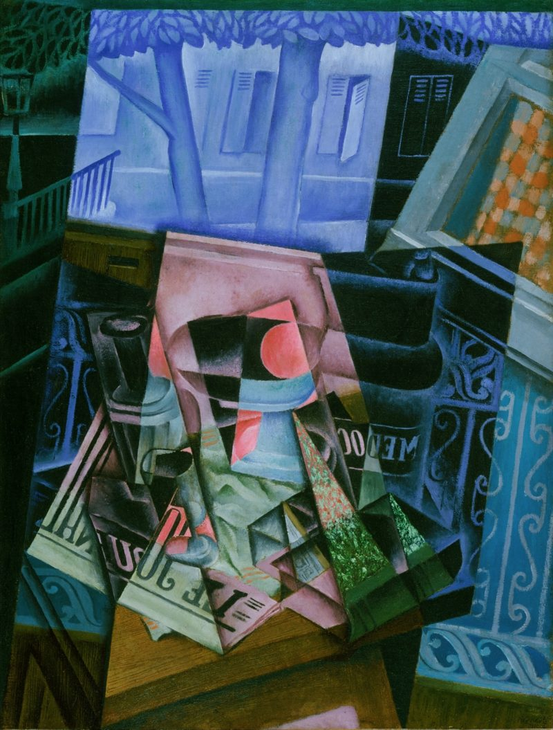 Kubismus Merkmale Juan Gris Still Life before an Open Window Place Ravignan