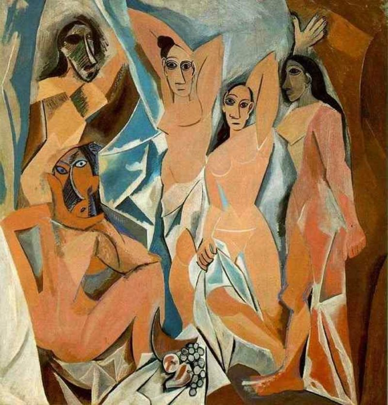 Kubismus Merkmale Les Demoiselles d'Avignon, 1907 by Pablo Picasso