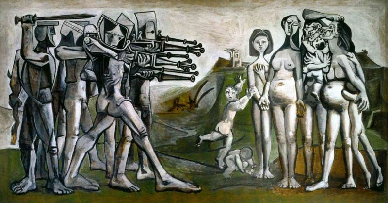 Kubismus Merkmale Massacre in Korea, 1951 by Pablo Picasso