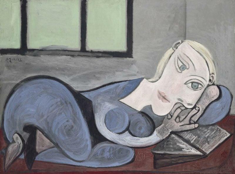 Kubismus Merkmale Pablo Picasso Liegende mit Buch, 1939