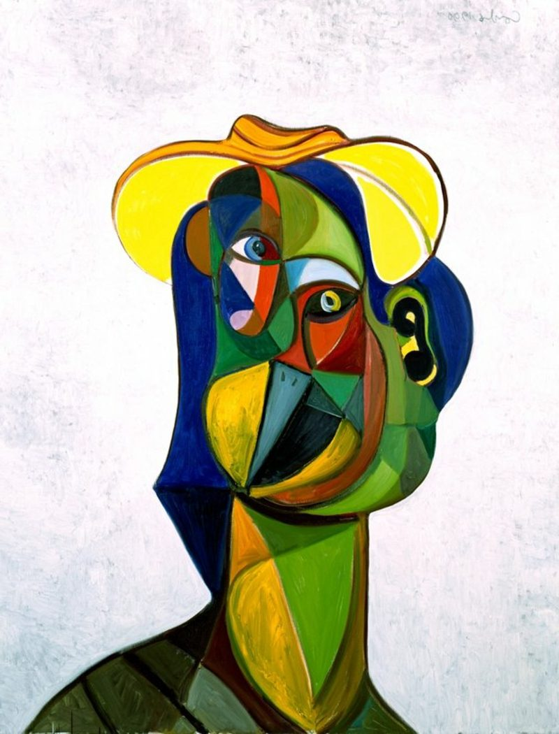 Kubismus Merkmale George Condo: Multi Colored Portait