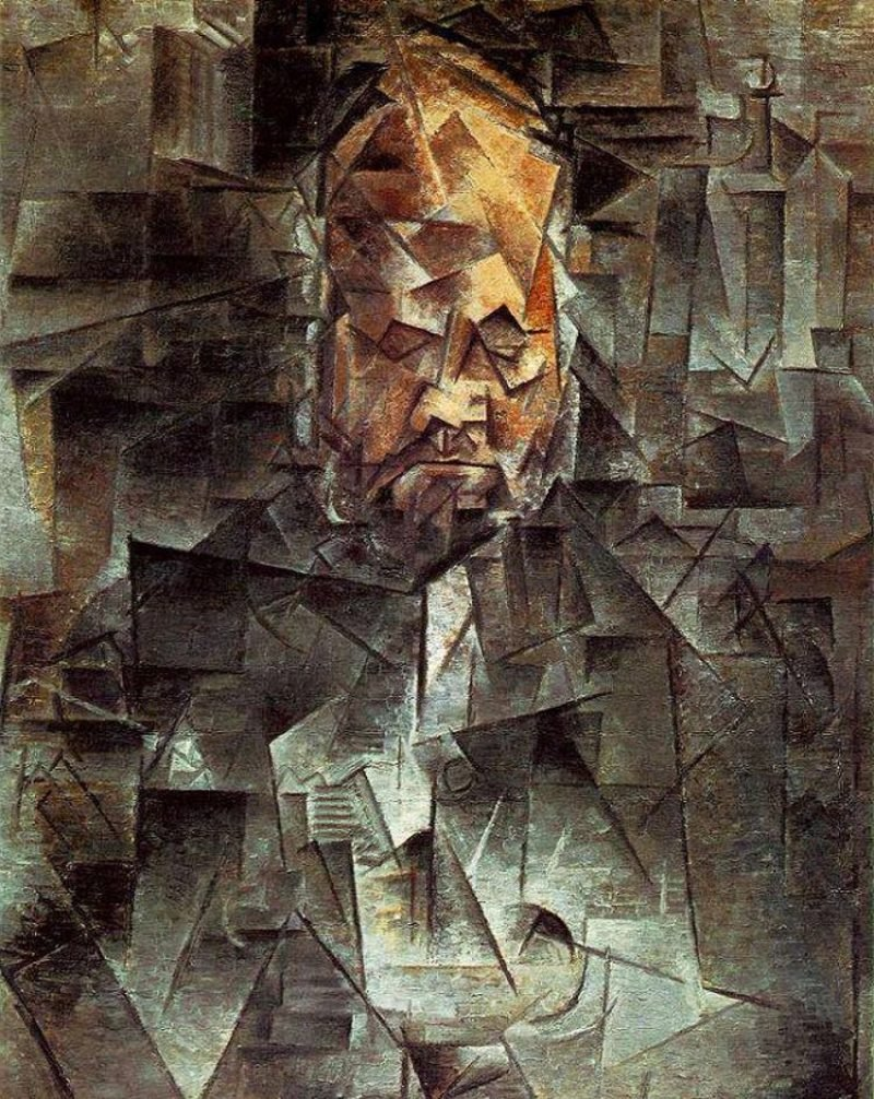 Kubismus Merkmale Portrait of Ambroise Vollard, 1910 by Picasso
