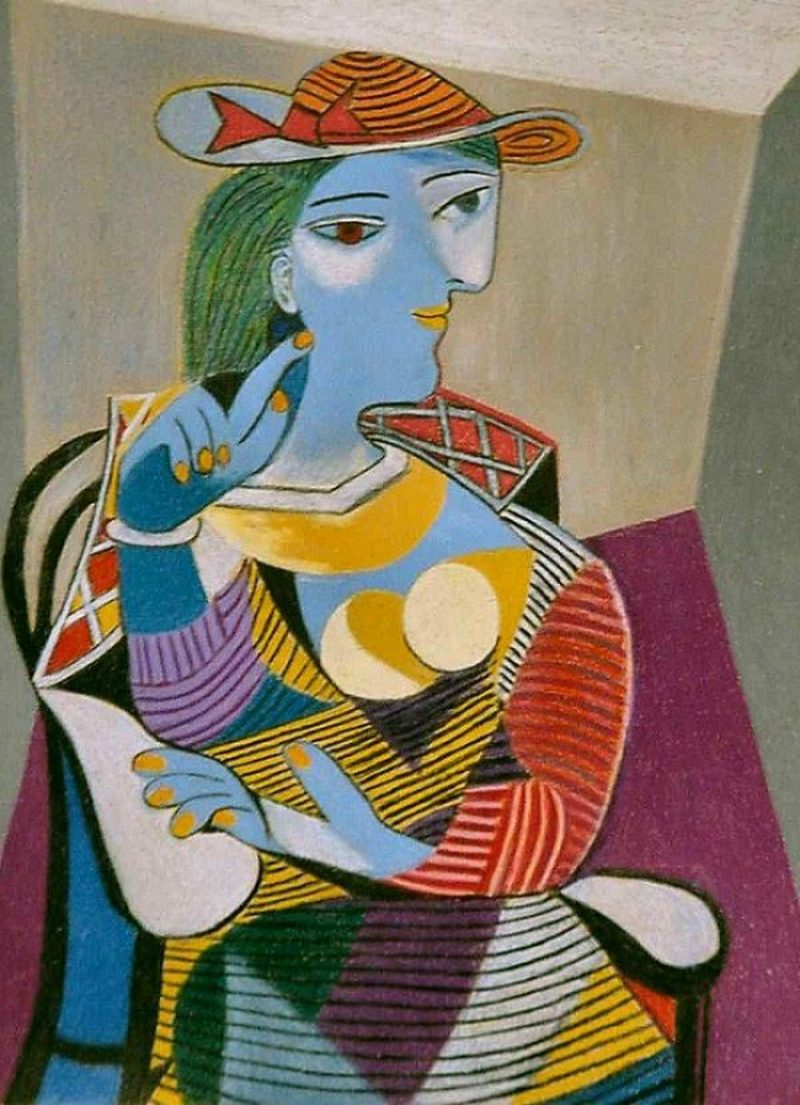 Kubismus Merkmale Seated Woman (Marie-Therese),1937 by Picasso