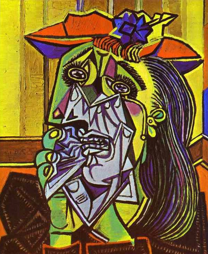 Kubismus Merkmale The Weeping Woman, 1937 by Pablo Picasso