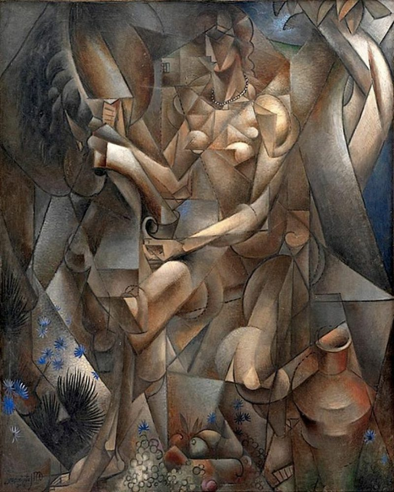 Kubismus Merkmale Woman on a Horse, 1912 by French Jean Metzinger (1883-1956)
