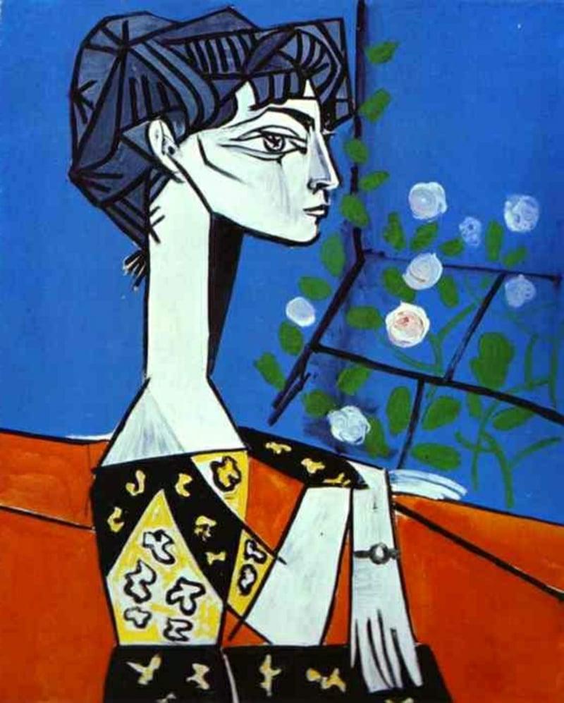 Kubismus-Merkmale-picasso-kubismus-merkmale-Jacqueline-mit-blumen1
