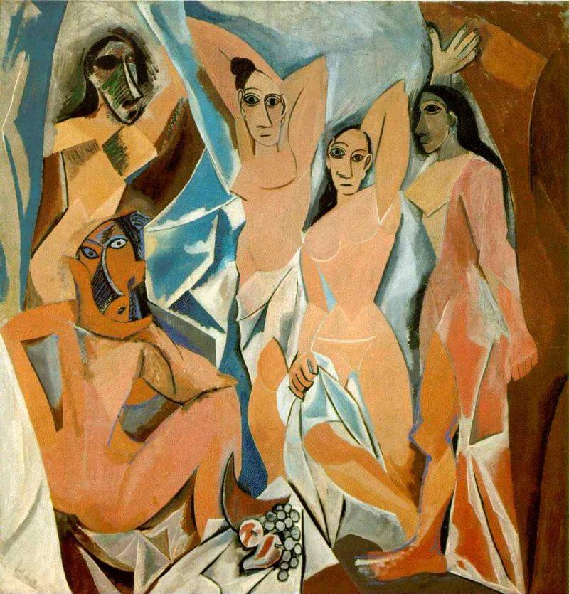 Kubismus Merkmale picasso Les Demoiselles dAvignon 1907