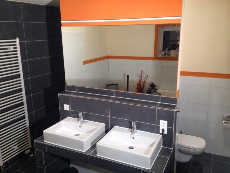 Badezimmergestaltung Spiegelbeleuchtung