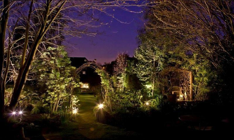 Solarlampen LED Beleuchtung im Garten